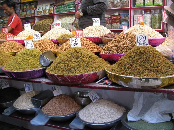 spices at Indian market