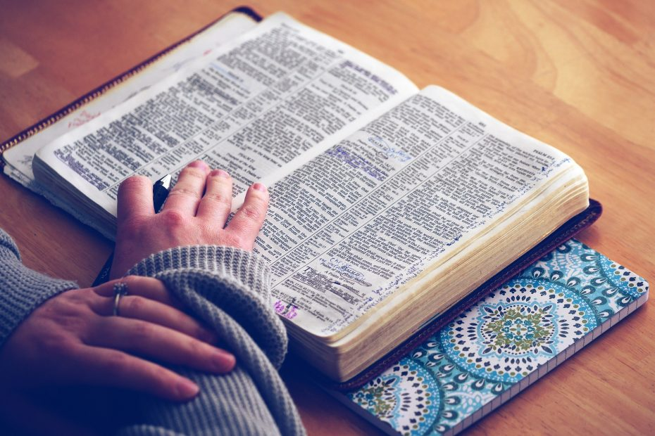 Spiritual habits for daily life, like reading the Bible, can help in times of anxiety.