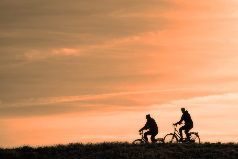 Biking is one form of movement